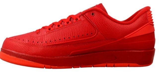 new arrival 6d629 1b79b Nike Air Jordan 2 Retro Low Gym Red UK 10 Mens Trainers 832819 606