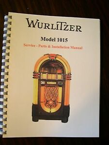 wurlitzer 1015 jukebox service parts manual ebay rh ebay com jukebox repair manuals nsm jukebox repair manual