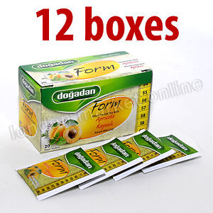 Form Tea with APRICOT Dogadan Turkish cay Herbal Weight Loss Fit ...