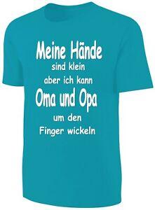 Kinder Spruche Shirt Oma Und Opa Turkis Ebay