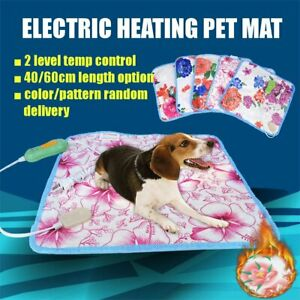 60-40cm-Electric-Cat-Dog-Heating-Pet-Mat-Bed-Blanket-Winter-Warmer-Pad-220V