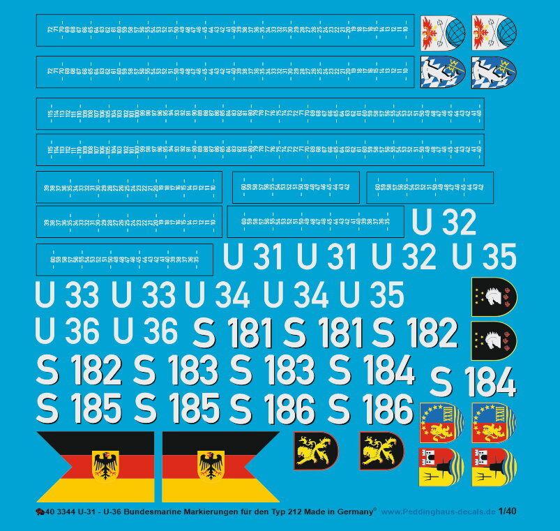Peddinghaus 1 40 3344 German Navy u-31-u36 Tags