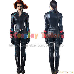 Details About The Avengers 2 Age Of Ultron Cosplay Black Widow Natasha Romanoff Party Uniform