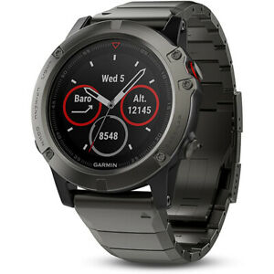 Garmin-Fenix-5-Sapphire-Multisport-47mm-GPS-Watch-Slate-Gray-with-Metal-Band