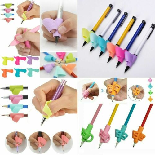 3pcs Writing Aid Grip Posture Silicone Children Pen Pencil Holder Help Learning