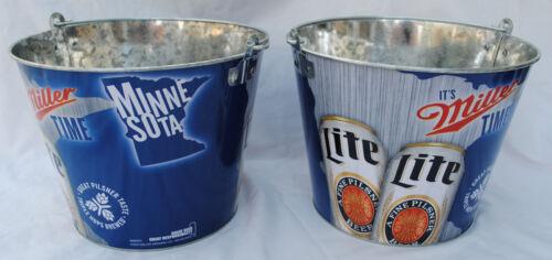 galvanisé Tin Minnesota USA bière seau il est Miller Time Miller Lite
