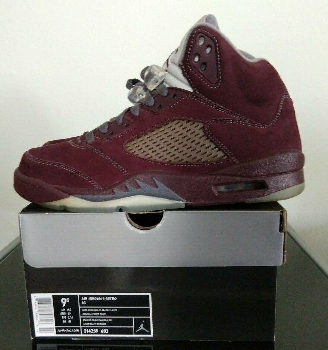 663267cc439ad4 DS Nike Air Jordan 5 Retro LS 314259-602 Deep Burgundy Graphite ...