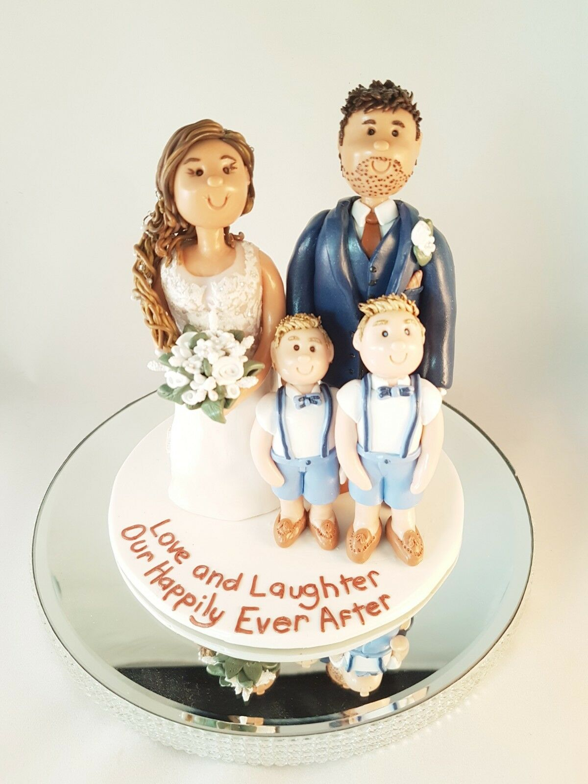Personalised Unique wedding cake topper Mariée et marié, Unique Personalised Fait Main Argile Keepsake 48b335