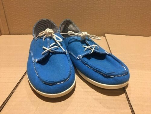 Olukai women's Heleuma Canvas, size 7us, Tropical BLUE, off white, NEW in box