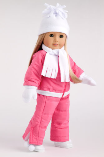 Let It Snow Snowsuit Hat Scarf Mittens Boot Doll Clothes for 18 American Girl