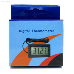 3E1B 1A79 Digital LCD Aquarium Thermometer -50℃-110℃ With Waterproof Probe Black 691733241992