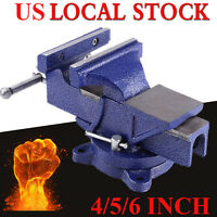 6 Mechanic Bench Vise Table Top Clamp Press Locking Swivel Base Heavy Duty