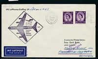 61505) LH FF Frankfurt - Madrid Spanien 2.4.63, cover GB / UK Great Britain