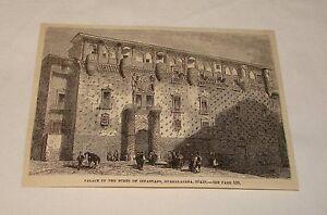 1877-magazine-engraving-PALACE-OF-DUKES-OF-INFANTADO-Spain