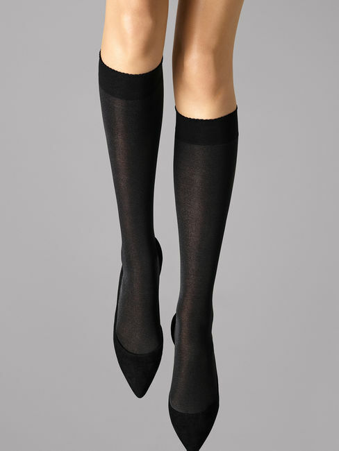 Wolford Velvet de Luxe 50 Knee-Highs blickdichter Kniestrumpf 50 DEN