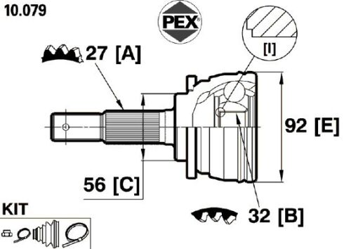 Convient nissan primera 439NI0200 cv joint kit extérieur