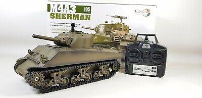 Premuroso Aggiornato 2.4ghz Versione 6 Heng Long Rc Sherman Tiger Battle Tank Bb Fumo Suoni-mostra Il Titolo Originale Corrispondenza A Colori