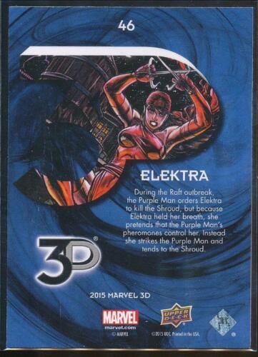 2015 Marvel 3-D Trading Card #46 Elektra