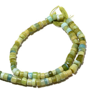 Green-Opal-Tyre-Beads-Opal-Heishi-Beads-6-5mm-Beads-14-Inches-Strand-A110