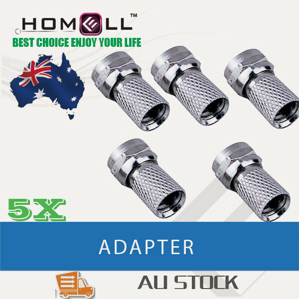 Y-FC04 5PCS F Type Male Plug Connector For RG6 Coaxial Cable