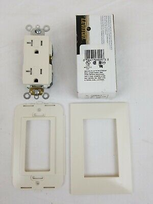 2 Leviton Decora Lt Almond GFCI /& Receptacle Wallplate Outlet GFI Covers 80455-T