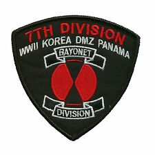 7th Infantry Division Bayonet Patch - WWII - Korea - DMZ - Panama - 7th ID (L)