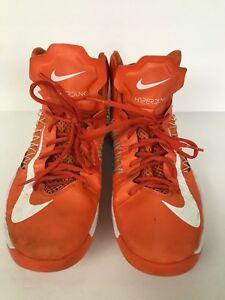 premium selection 8c72a afe18 Image is loading Women-s-Nike-Hyperdunk-2012-Orange-Blaze-White-