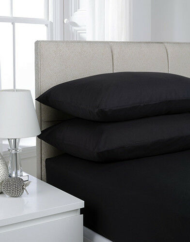 Luxury 100/% Egyption Cotton 200 TC Deep 30cm Fitted Sheets Or Flat Sheet