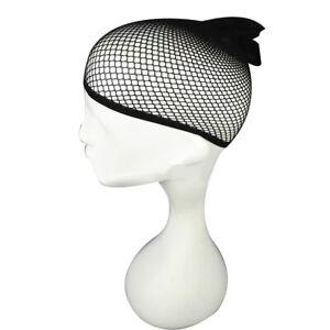 PW-Women-Durable-Nylon-Wig-Cap-Open-End-Black-Mesh-Liner-Short-Fishnet-Hair-N