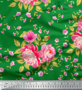 Soimoi-Fabric-Lilac-amp-Peony-Floral-Print-Sewing-Fabric-BTY-FL-1029C