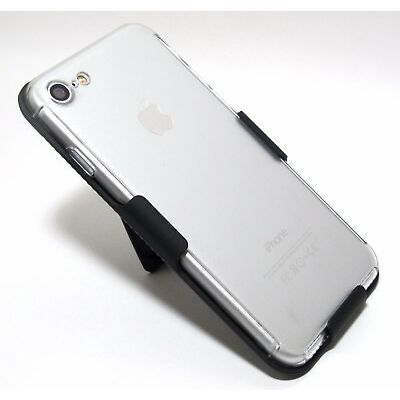 360° Full Body Cover Clear Case with BELT CLIP HOLSTER for iPhone 8 & 8 Plus