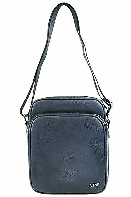 0e434f19ddb7 Armani Jeans Mens Faux Leather Shoulder Messenger Bag B6255 S8 L8 Blue