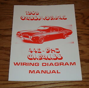1969 Oldsmobile Cutlass 442 - F85 Wiring Diagram Manual 69 ...