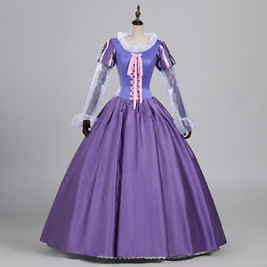 Tangled Cosplay Costume Princess Rapunzel Fancy Party Dress