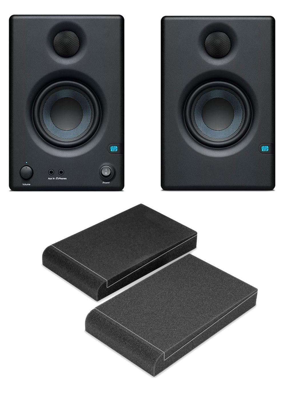PreSonus Eris E3.5 aktives Studiomonitor-Paar Set Lautsprecher Absorberplatten