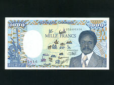 Gabon:P-10b,1000 Francs,1991 * President O. Bongo * UNC *