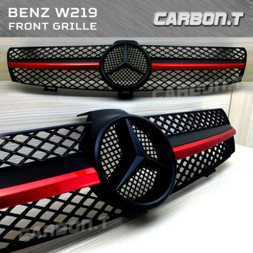 Benz Front Grill Red Metallic Matt Black CLS CLASS W219 CLS350 ...