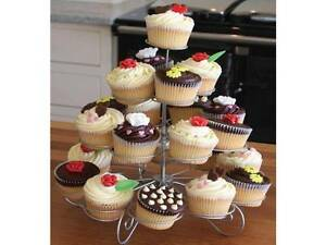 image is loading 4 niveaux cupcake presentoir gateau argent fete mariage - Presentoir Gateau Mariage