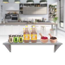 12 X 36 Solid Wall Shelf Stainless Restaurant Kitchen Pantry Organizer Rack Us