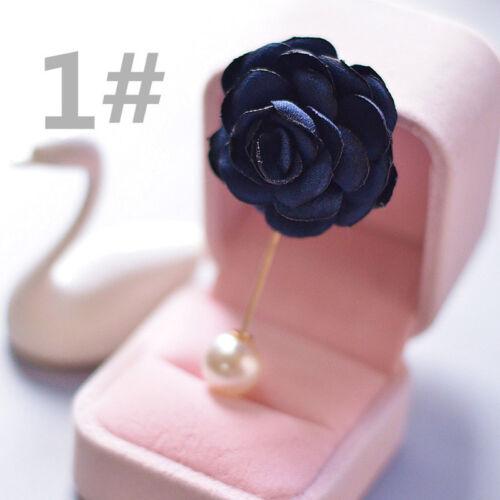 Femmes Hommes Classique Fleur Corsage Stick broche épinglette Boutonnière Mariage