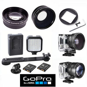 HD-Grand-Angle-Teleobjectif-zoom-36-Lumiere-DEL-pour-GOPRO-HERO-5-Noir