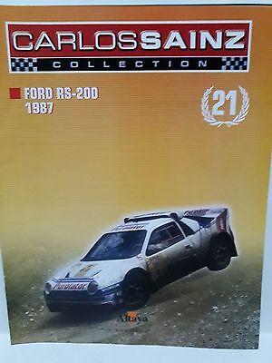 Cordiale Fasciculos Carlos Sainz Fasc21 Ford Rs 200 1987