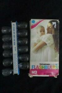 Sylvania Vtg Blue Dot Flash Bulbs 12 Clear Quality M3 Photography Original Box