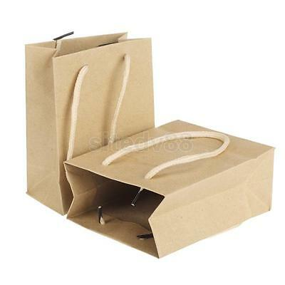 10Pcs Brown Craft Paper Candy Food Gift Treat Bag Party Wedding Favor New