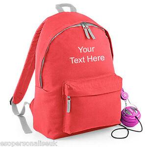 Personalised-FASHION-BACKPACK-Rucksack-Bag-Named-School-Team-Travel-BG125