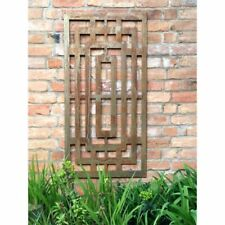 Outdoor Decorative Screen 120 cm Garden Rusted Wall Panel Art Patio Decoration