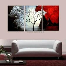Modern Canvas Tree Painting Print Picture Home Wall Art Decoration No Frame 3Pcs