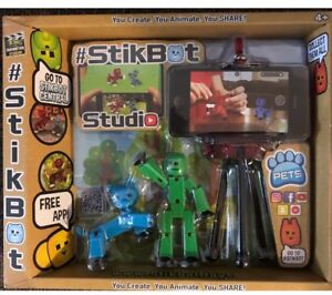 Details about New Stikbot Studio Kids Stop Motion Animation App Movie Maker  & Figures (11c)