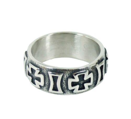 Ring Fingerring Bandring Edelstahl Eisernes Kreuz Biker Rocker