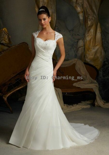 2016 New White/ivory Stock Wedding Dress Bride Gown Size4 6 8 10 12 14 16 16W